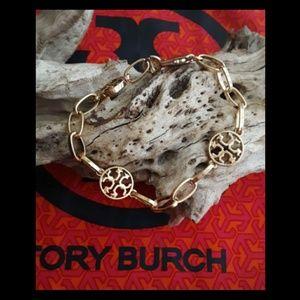 New! Tory Burch Link Bracelet w/Charms!